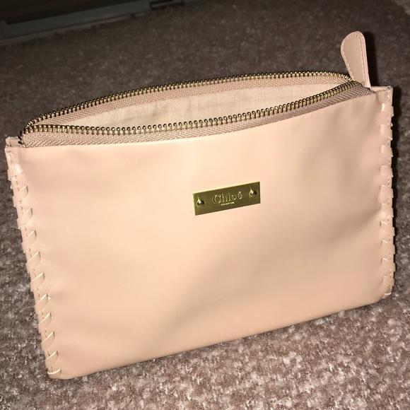2881eb240617 Chloe Other - Chloé Blush Pink Braided Makeup Cosmetic Bag